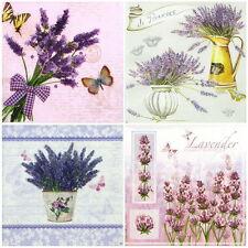 4x Tovaglioli di carta per Decoupage Decopatch Craft MIX di fiori