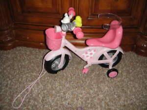 RARE ZAPF BABY BORN PINK BIKE