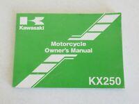 Kawasaki KX250 Motorcycle Owner's Manual 99987-1411