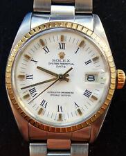 Rolex ♛ Oyster Date 1500 Steel/Gold 18K 750 Vintage Automatic Men's Watch 1968