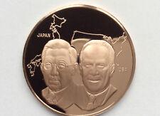 1975 Franklin Mint Hirohito Emperor Japan Visits U.S. Proof Bronze Medal A2167