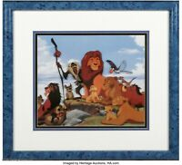 Framed Sericel Drawings Walt Disney Animated Clip Art The Lion King 1994