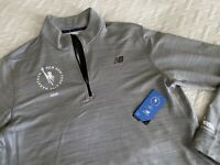 New Balance Men's 2019 NYC Marathon Pullover Half Zip Grey Size XL Extra Large