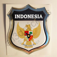 Sticker Indonesia Emblem Coat of Arms Shield 3D Resin Domed Gel Vinyl Decal Car