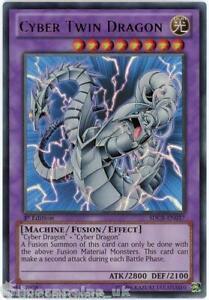 SDCR-EN037 Cyber Twin Dragon Ultra Rare 1st Edition Mint YuGiOh Card