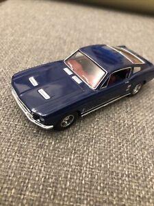 MATCHBOX DINKY 1967 FORD MUSTANG FASTBACK METALLIC Rare Blue 1/43