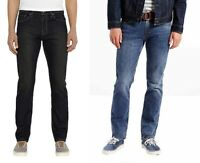 Mens Levi Strauss Jeans 511 Slim Dark Denim Sits Below Waist,  Slim Hip to ankle