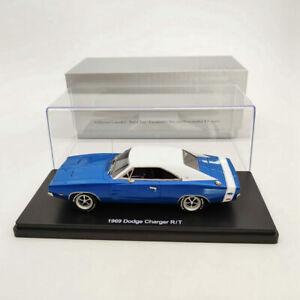 1:43 1969 DODGE CHARGER R/T SE Resin Limited Models - blue & white