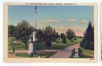 New York State Monument & Cemetery GETTYSBURG PA Civil War Battlefield Postcard