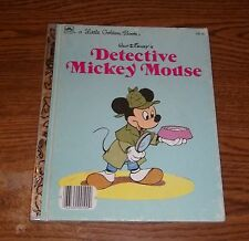Walt Disney's Detective Mickey Mouse (1985, Hardcover)