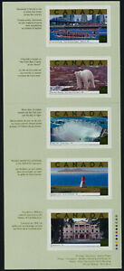 Canada 1990i Booklet pane MNH Tourist Attractions, Lighthouse, Polar Bear