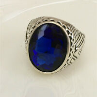 Vintage jewelry 316L Stainless Steel Vogue Design Mini Stone Ring USA Size 8 **