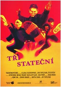 3 NINJAS 12x17 Original MINT Czech movie poster 1992 VICTOR WONG, JON TURTELTAUB