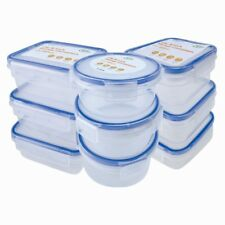 9 X Mini Storage Boxes Plastic Kitchen Container Small Food Sauce Baby