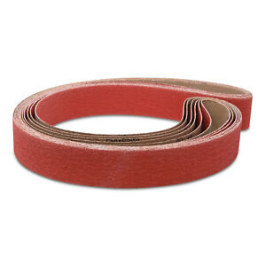 2 X 48 Inch 60 Grit Metal Grinding Ceramic Sanding Belts, 6 Pack