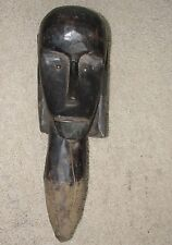 FANG GABON LONG NECK STATUE HEAD POST BRONZE EYE RELIQUARY ANTIQUE MASK AFRICA