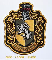 HUFFLEPUFF HARRY POTTER  EMBROIDERED CREST IRON SEW ON BADGE PATCHES
