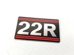 Genuine Toyota 22R Engine Name Plate Decal Sticker 4Runner Pickup Celica Corona