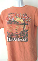 Orange Aloha LADIES TEE SHIRT  old Navy Soft xL big island hawaii