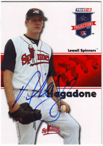 2008 TriStar Projections NIck Hagadone #214 Auto Autograph - Lowell Spinners
