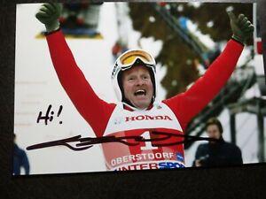 EDDIE THE EAGLE EDWARDS Hand Signed Autograph 4X6 Photo  - OLYMPIC SKI JUMPER