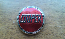 classic mini red mounted enamel chrome cooper s bonnet badge mpi spi rsp 1275 gt