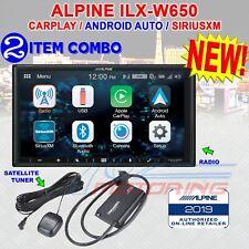 ALPINE iLX-W650 COMPATIBLE W/ CARPLAY & ANDROID AUTO + SATELLITE TUNER NEW!