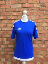 Adidas Blue Short Sleeved Gym Sports Football Lightweight Top Size Small B29