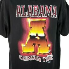University Of Alabama Crimson Tide T Shirt Vintage 90s Made In USA Size Large