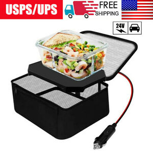 Portable Personal Mini Electric Microwave Oven Lunch Box 24V Food Warmer for Car