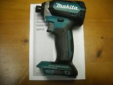 "Makita XDT13Z 18-Volt LXT Lithium-ion Brushless Cordless 1/4"" Impact Driver NEW"