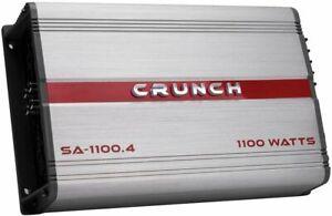 Crunch SA-1100.4 Smash Series 1100W 4-Channel Car Audio Subwoofer Amplifier