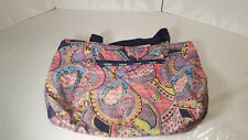 "LE SPORT SAC Paisley Colorful Pink Blue Purple Green Beach Bag Tote 22"" tall"