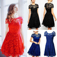Ladies Lace Fashion Dress Prom Evening Party Cocktail Clothing Sundress Womens