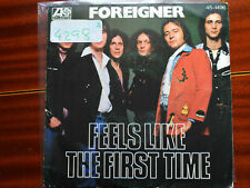 SINGLE FOREIGNER - FEELS LIKE THE FIRST TIME - ATLANTIC SPAIN 1977 VG/VG+