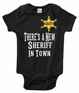 Baby Bodysuit - There's a New Sheriff in Town Western Baby Clothes for Infants