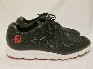 FootJoy Superlites Xp Cushioned Trainer Golf Shoes Black 58027 Men's size 9.5