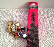 """Small Christmas Tree and 12 Drum Ornaments Holiday Decoration Set 18"""" Table-top"""