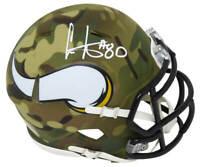 Cris Carter Signed Minnesota Vikings CAMO Riddell Speed Mini Helmet - SS COA