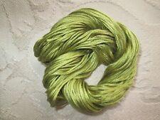 lime green 7 strand spun silk thread Au Ver A Soie quality - a hank of 48m
