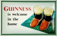 Guinness Slippers embossed steel sign 300mm x 200mm (hi)