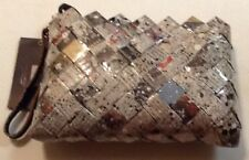 NEW CANDY WRAPPER RECYCLED HANDMADE TEXT PRINT PURSE HAND BAG CLUTCH WRISTLET 1
