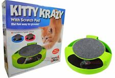 Kitty Crazy Scratch Pad Con Mouse Chaser Mascota Toys aseo Limpieza saludables las uñas