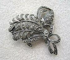 Vintage Art Deco Sterling Silver Marcasite Fir Cone? Brooch