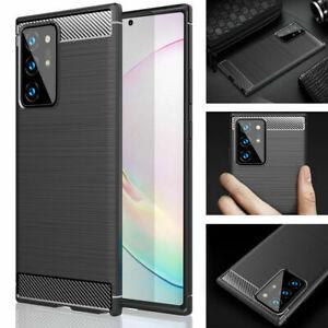 Case shockproof Soft Carbon Fiber Slim Cover For Samsung Galaxy S20 S21 A12 A32