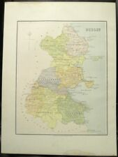 "Irish Map COUNTY DUBLIN Ireland Skerries Limerick Thomas Kelly 1878 6.75"" x 8.5"""