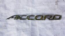 honda accord trunk tailgate boot lid emblem badge decal logo chrome rear