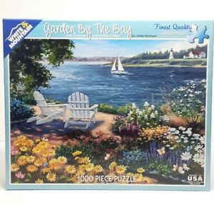 "White Mountain Puzzle ""Garden By The Bay"" 1000 Pieces Art By Joelle McIntyre"