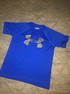 Under Armour Boys YSM Small 8-10 athletic shirt Blue