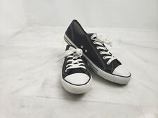 EVOS Men´s Shoes Black And White Lace Up Canvas Size 11